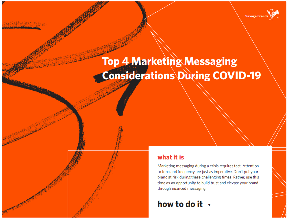 Top Four Marketing Messaging Considerations During COVID-19
